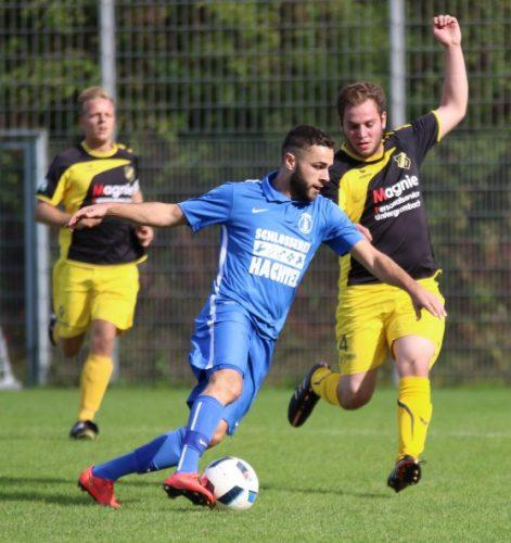 Foto:kri Luan König, Mitte; erzielte das 1:0 für den VfB