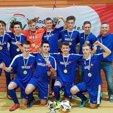 B1-Jugend des VfB Bretten gewinnt Kreismeisterschaft im Futsal